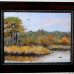 """Marsh Music by Ellie Dean $100 or best offer, with frame 15.5"""" x 12.5"""""""