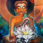 """Inner Peace by Patricia Tamariz $55 or best offer, Richly colored 26/50 print  22"""" x 17"""""""