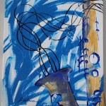 """Blues Come Around Again by Barbara Combs $75 or best offer, 20""""x 30"""""""