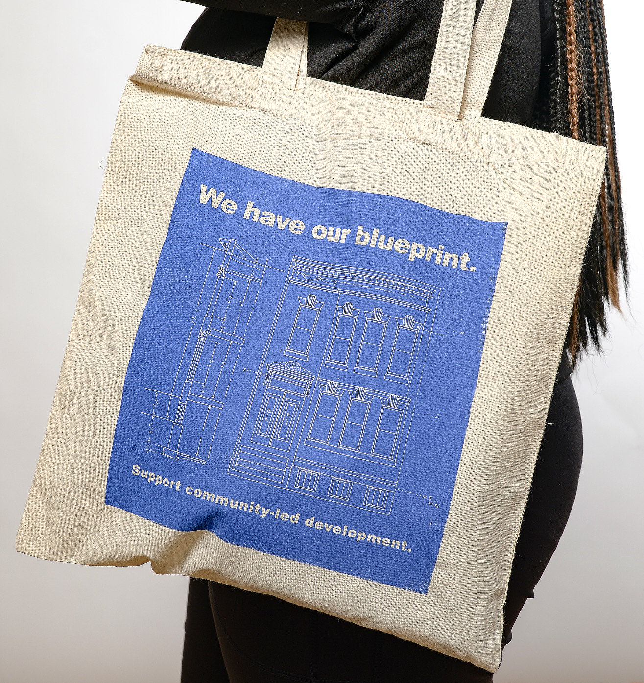 Jubilee arts baltimore blueprint canvas tote bag blueprint canvas tote bag malvernweather Image collections